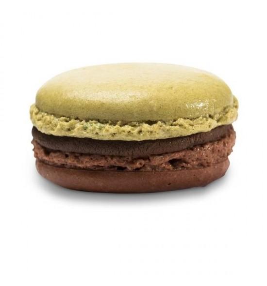 Macarons menthe Chocolat noir